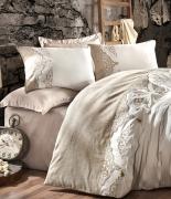 Комплект постельного белья Dantela Vita Embroideried&Fringed Ceren евро
