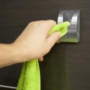 Вешалка для полотенец tatkraft ida самоклеящаяся из нержавеющей стали 5х7.5х2.3 см 11816