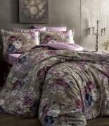 Комплект постельного белья Tac сатин Digital Jasmine gri v01 семейный