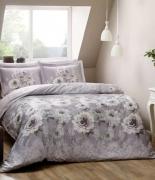 Комплект постельного белья Tac сатин Digital Giana lila v01 евро лиловый