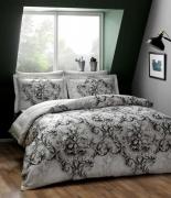 Комплект постельного белья Tac сатин Digital Carissa gri v01 евро серый
