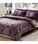 Комплект постельного белья Tac сатин Delux Pavona V07 семейный фиолетовый