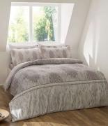 Комплект постельного белья Tac сатин Digital Elisa gri семейное серый