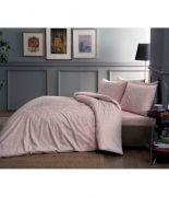 Комплект постельного белья Tac сатин Fabian V52 pembe семейный розовый