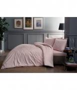 Комплект постельного белья Tac сатин Fabian V52 pembe полуторное розовый
