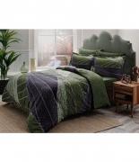 Комплект постельного белья Tac сатин Delux Borneo V01 yesil семейный зеленый