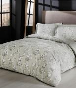 Комплект постельного белья Tac сатин Lennie V04 tas семейный серый