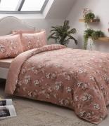 Комплект постельного белья Tac сатин Lennie V02 pembe семейный розовый