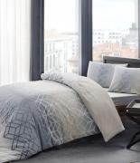 Комплект постельного белья Tac ранфорс Play V05 gri полуторный серый