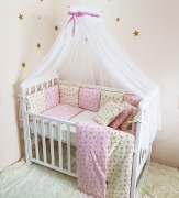 Постельный комплект Baby Design Премиум Прованс розовый 6 ед.