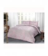 Комплект постельного белья Tac ранфорс Mirabel V03 pembe полуторный розовый