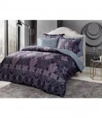 Комплект постельного белья Tac Bamboo Freja V01 lacivert полуторный синий