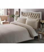 Комплект постельного белья Tac Premium Basic Stripe krem евро плюс кремовый