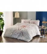 Комплект постельного белья Tac ранфорс Yasmin V02 pembe семейный розовый