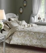 Комплект постельного белья Tac сатин Delux Shadow V51 yesil евро зеленый