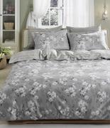 Комплект постельного белья Tac сатин Delux Shadow V56 gri евро серый