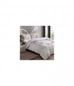 Комплект постельного белья Tac Complete set Madonna V03 pembe евро розовый