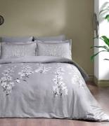 Комплект постельного белья Tac сатин Ronna V02 gri евро серый