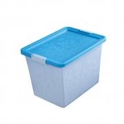 Ящик для хранения с крышкой Жасмин, 22л голубой