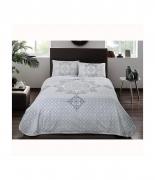 Комплект постельного белья с пике Tac Elegance V02 turkuaz полуторный бирюзовый