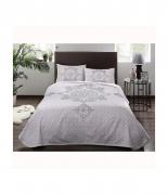 Комплект постельного белья с пике Tac Elegance V01 lila полуторный лиловый