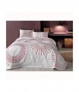 Комплект постельного белья с пике Tac Moon V02 pembe полуторный розовый