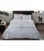 Комплект постельного белья с пике Tac Elegance V02 turkuaz евро бирюзовый