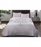 Комплект постельного белья с пике Tac Elegance V03 lila евро лиловый