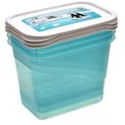 Комплект емкостей для морозилки прямоугольный Polar 3*1,0л 3014