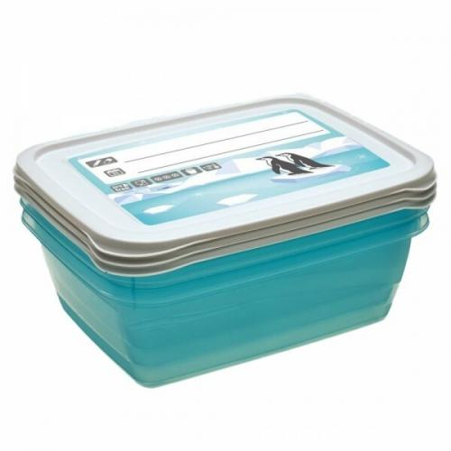 Комплект емкостей для морозилки прямоугольный Polar 3*1,25л 3015