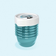 Комплект емкостей для морозилки круглый Polar 6*0,2л 3022