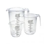 Комплект кухонных дозаторов, 3шт (0,25+0,5+1,0л)