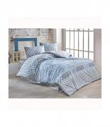 Комплект постельного белья Brielle ранфорс Ahser mavi евро голубой