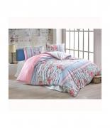 Комплект постельного белья Brielle ранфорс Burcu pembe евро розовый