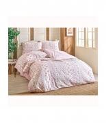 Комплект постельного белья Brielle ранфорс Gonca pembe евро розовый