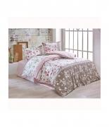 Комплект постельного белья Brielle ранфорс Gulperi pembe евро розовый