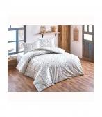 Комплект постельного белья Brielle ранфорс Gonca mavi полуторный голубой