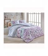 Комплект постельного белья Brielle ранфорс Mujde lila полуторный лиловый
