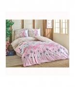 Комплект постельного белья Brielle ранфорс Mujde pembe евро розовый