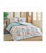 Комплект постельного белья Brielle ранфорс Nilufer mavi евро голубой