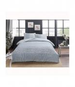 Комплект постельного белья Tac ранфорс Leona V01 полуторный голубой