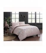 Комплект постельного белья Tac ранфорс Sarah V02 полуторный розовый