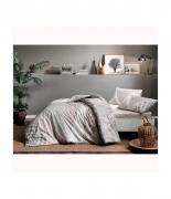 Комплект постельного белья Tac ранфорс Saylor V01 полуторный серый