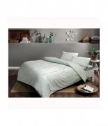 Комплект постельного белья Tac ранфорс Tiana V05 полуторный зеленый