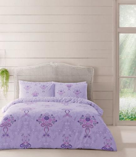 Комплект постельного белья Tac ранфорс Evan V01 кингсайз лиловый