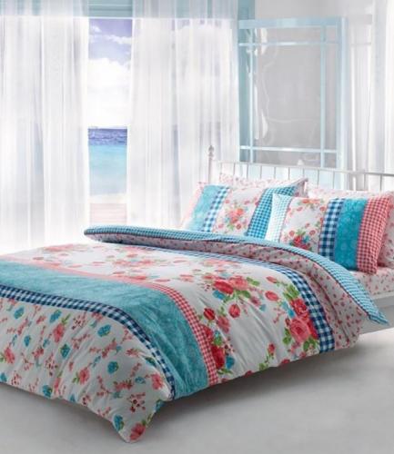 Комплект постельного белья Tac ранфорс Jillian V01 кингсайз розовый