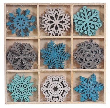 Набор декоративных украшений Снежинки 36 шт 93654