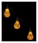 """Гирлянда """"Декоративные лампочки"""", 2,1 м золотистые"""