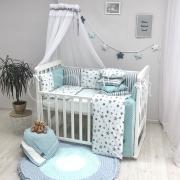 Постельный комплект Baby Design Stars мятный 7 ед.