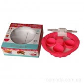 Набор форм силиконовых для выпечки (кекс с втулкой, мафины-6шт, лопатка)